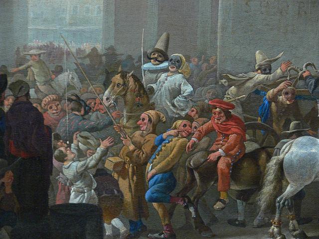 Johannes Lingelbach, Carnival in Rome circa 1650